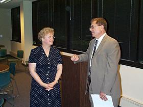 Kay Meyer and Rev. Sonnenberg