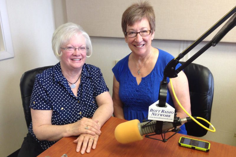 Jane Haas and Kay Meyer in the studio
