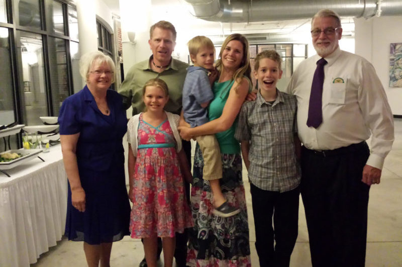 Kay with daughter Coreen Son-in-law David, husband Tjaden and three grandchildren Seth, Elizabeth and Luke