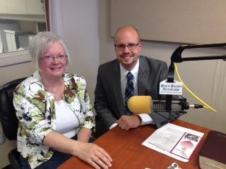 Kay Meyer with Rev. Matthew Clark