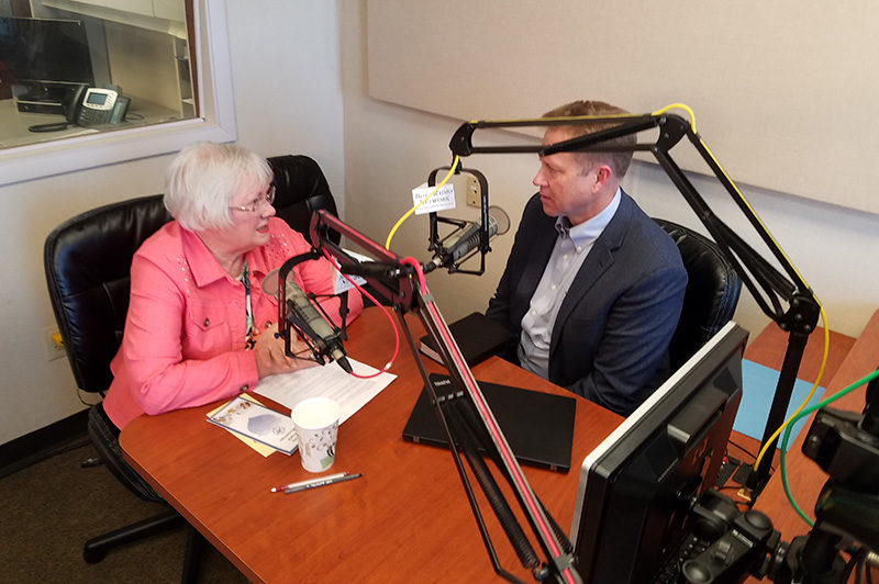 Rev. Mark Frith and Kay Meyer in the studio